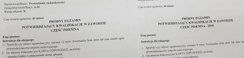 Próbne egzaminy zawodowców