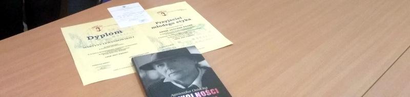 MartynaLewandowska laureatką wojewódzkiego konkursu etycznego