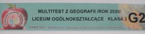 "Ogólnopolski ""Multitest"" on-line – geografia"