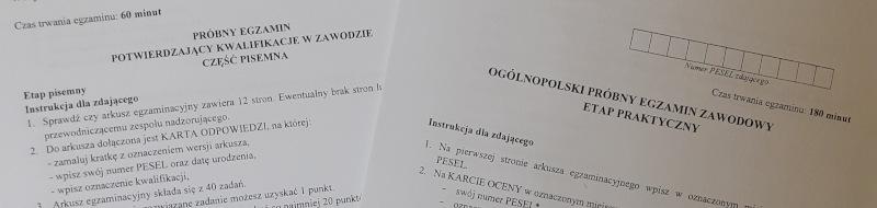 Próbne egzaminy zawodowe