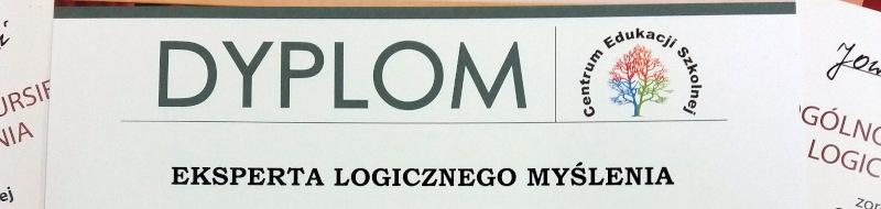 Sukces Magdy wOgólnopolskim Konkursie Logicznego Myślenia!
